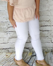 White Denim Fringed