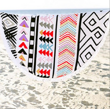 Geometric Print Beach Wrap Throw