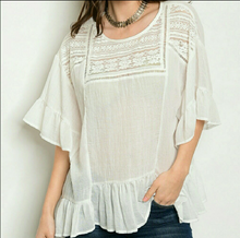 Ruffle Crochet Top