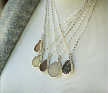 Stearling Silver Teardrop Necklace