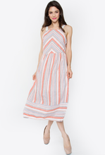 Nola Striped Midi Dress