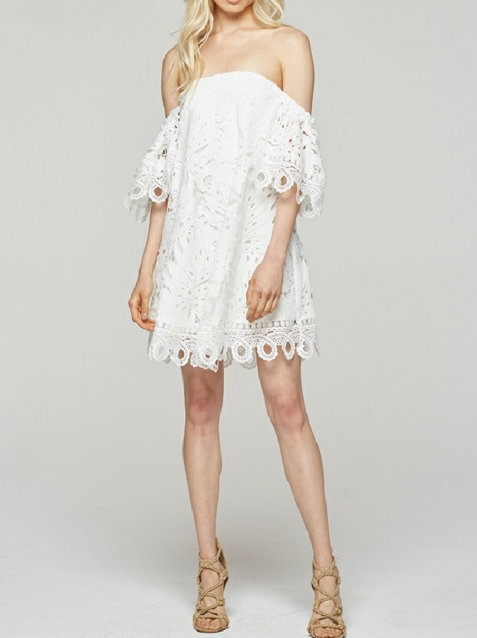 Leaf and Loop Lace Dress