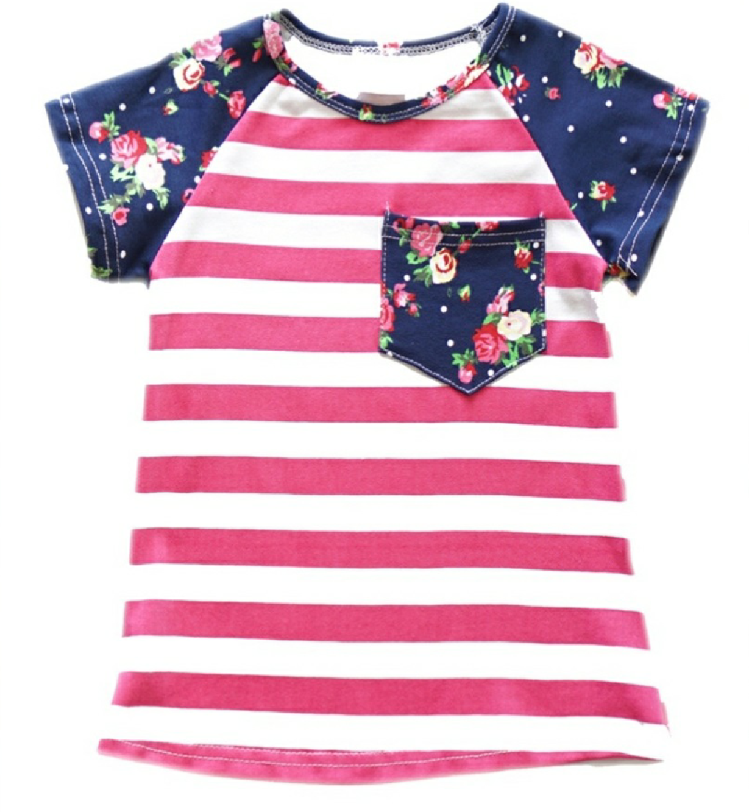 Girls Fun Striped Tee