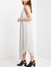 Halter Curved Hem Maxi Dress