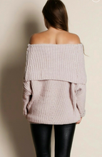 Champagne Grey Shoulder Sweater