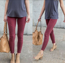 Side Zip Moto Jeggings