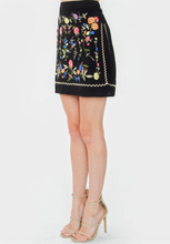 Embroidered Black Skirt