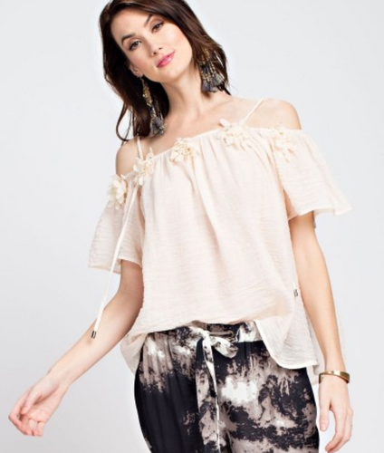 Off the Shoulder Flowers Top