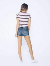 Button Front Denim Short