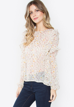 Soft Sheer Ruffle Top