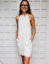 Minimalist Button Bown Dress