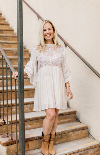 Paisley Lace Boho Dress