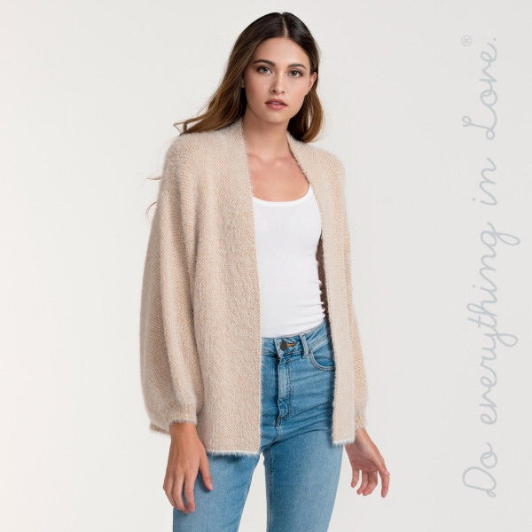 Metallic gold ivory cardigan