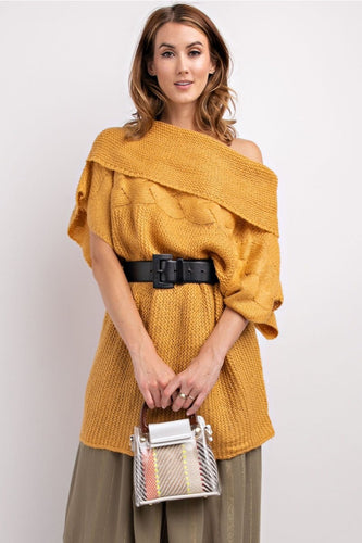Effortless Mustard Sweater