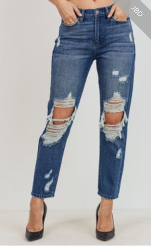 Boyfriend Distressed Denim Jeans