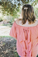 Rose Ruffle Back Top