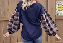 Plaid Sleeves Top