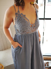 Gray Bralette Jumpsuit
