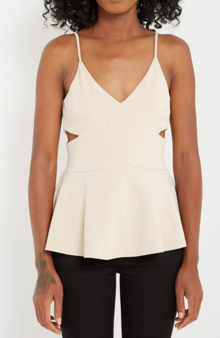 Peplum Cut Out Tank
