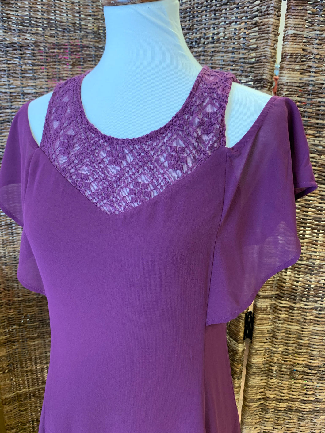 Purple Lace Cold Shoulder