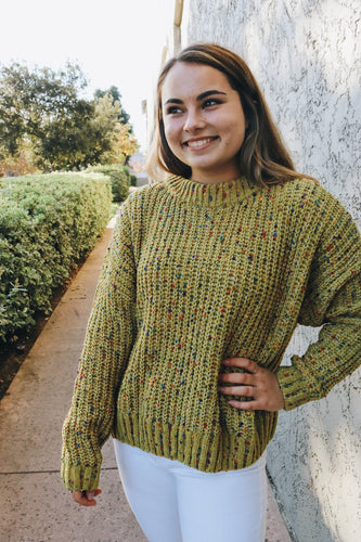 Speckled Chunk knit sweater
