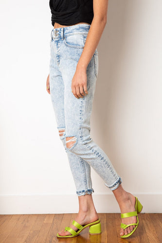 Light Wash Summer Denim Pants