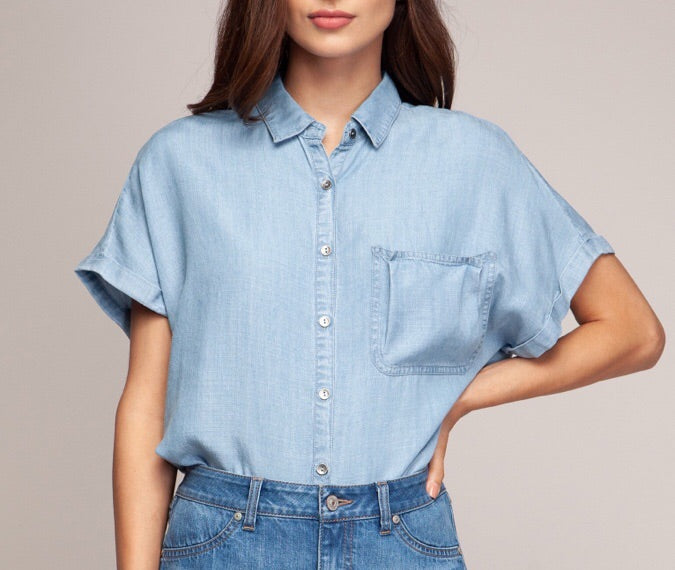 Soft Denim Top