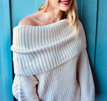 Cream Shoulder Sweater