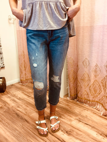 Distressed High Rise Relax Fit