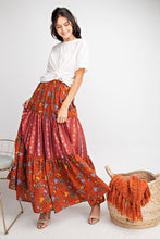 Red Layered Skirt