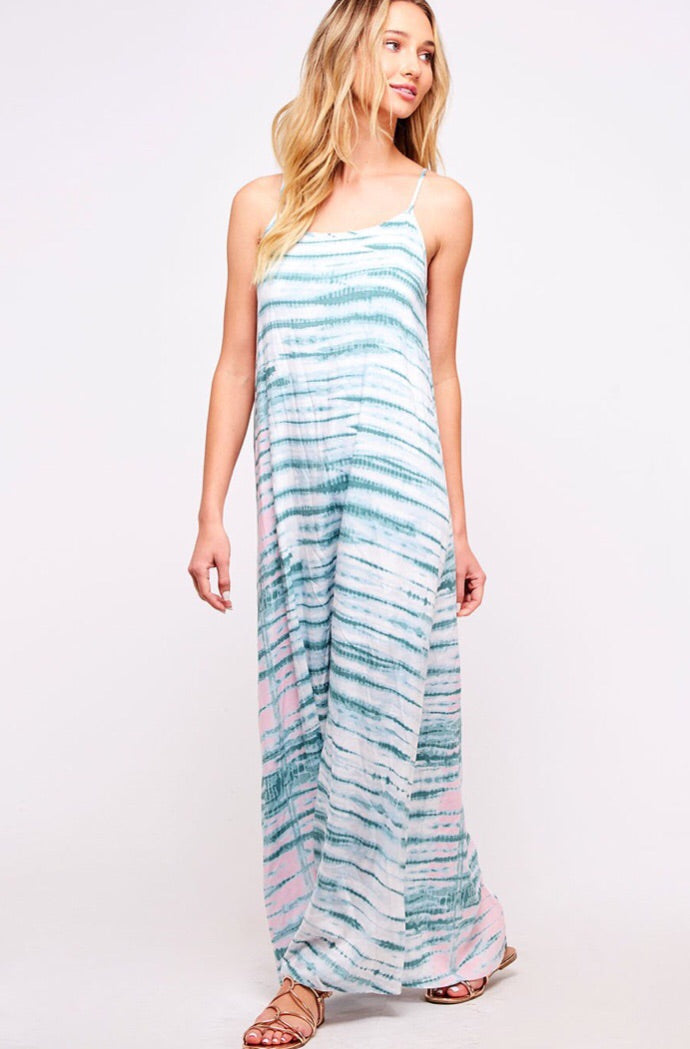 Tie dye striped dress