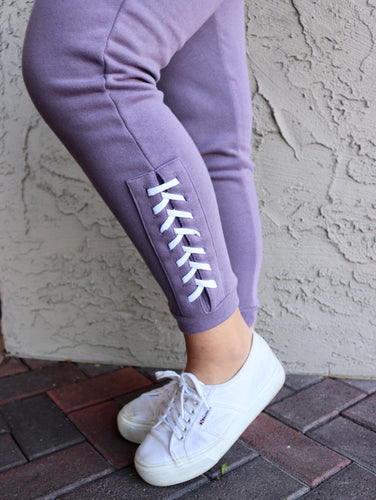 Purple Laced Joggers