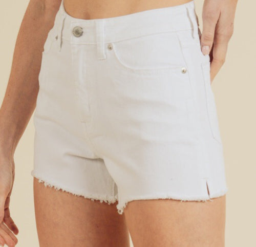 White live in shorts