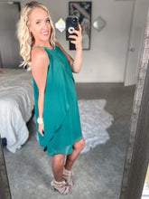 Teal Tulip Dress