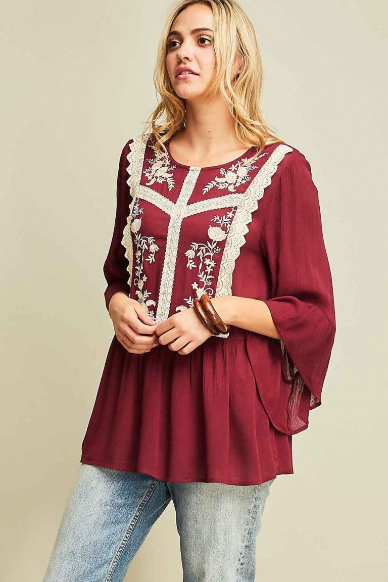 Embroidered Grace Top