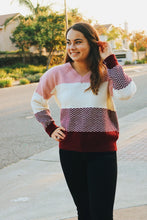 Color Block Chevron Sweater