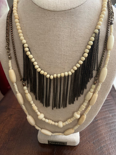 Ivory and Bronze Necklace