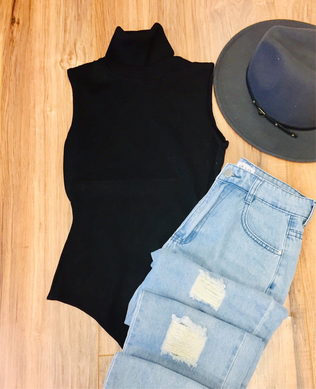 Turtleneck Bodysuit Tank