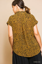 Cheetah Button Up Top in Plus