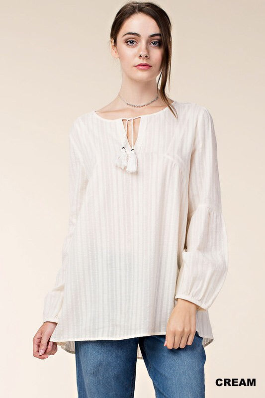 Creme Lush Striped Top