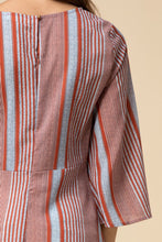 Cascading Striped Top