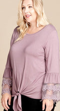 Lavender Fields Lace Sleeve Top in Plus