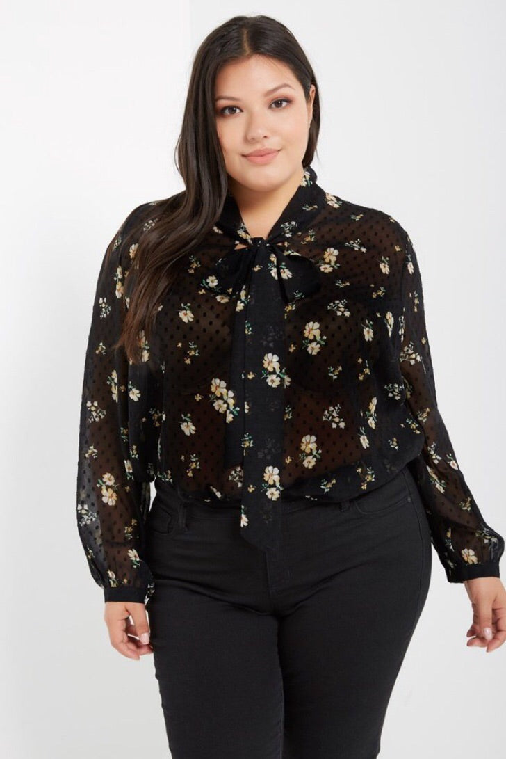 Dot and Floral Top