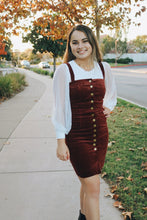 Burgundy Corduroy Dress