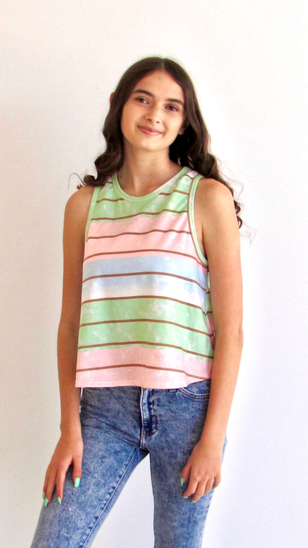 Striped Beach shores tank