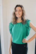 Emerald Ruffle Blouse