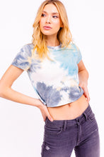 Dusty Blue Tie Dye Crop