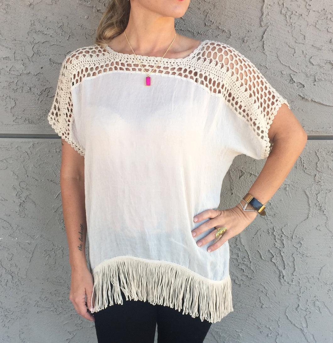 Fringed Boho Top