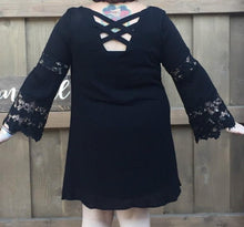 Black Tunic Dress in Plus