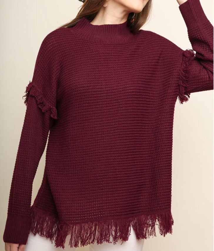 Burgundy Love Sweater